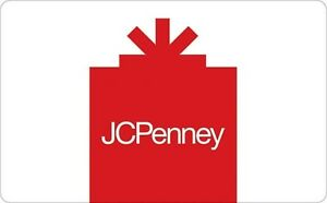 JcPenney Gift Card $25 $50 or $100 - Email delivery