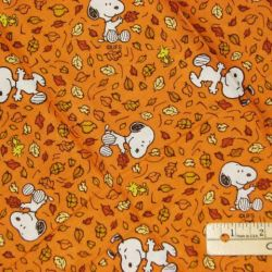 62e13bcbbf4b8 Snoopy Peanuts Woodstock Fall Walk Autumn Fabric Btfq Ebay