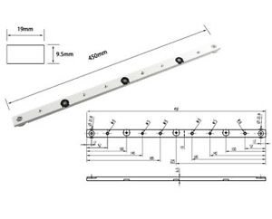 450mm Aluminum sliding slab block for Router Table Saw