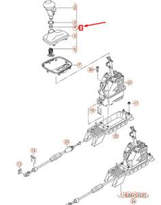 NEW OEM AUDI RS3 SPORTBACK 8P GEAR SHIFTING GRIP RHD