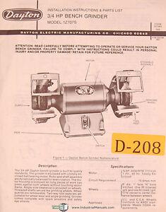Dayton 1z707s 3 4 Jp Bench Grinder Installation