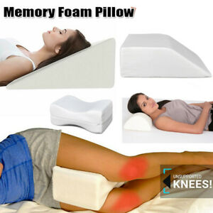 details about leg elevation wedge memory foam pillow for back hip neck knee support