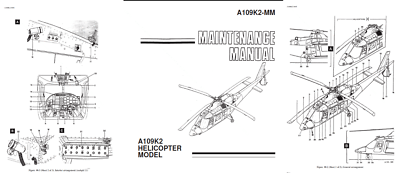 Agusta A109 Helicopter maintenance technical manual DVD