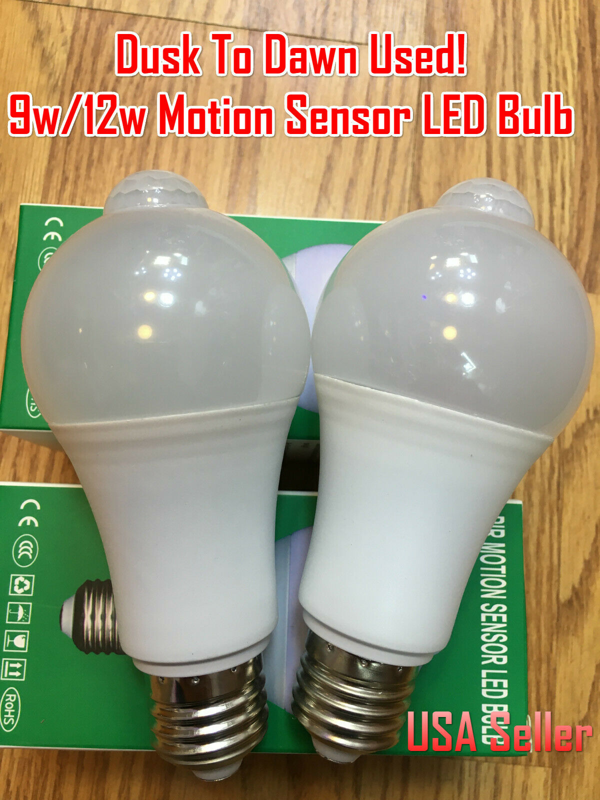 Aukora 9w Motion Activated Led Bulb E26 E27 Motion Sensor Light Bulb For Sale Online Ebay