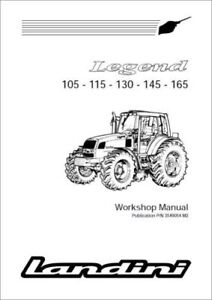 Landini Legend 105 110 115 130 145 165 Tractor Workshop