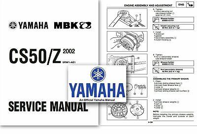 Yamaha CS50 JOG R Scooter Workshop Service Shop Factory