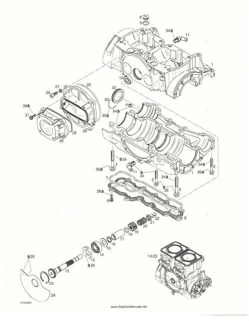 Sea-Doo Parts Manual Book 1998 GTX RFI Models: 5666 / 5843