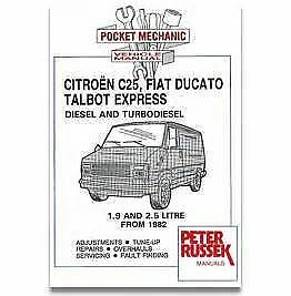 CITROEN RELAY PEUGEOT BOXER FIAT DUCATO 1.9 AND 2.5 CAR