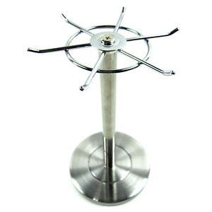 carousel kitchen utensil holder cabinet door handles stainless steel utensils organizer rotating image is loading