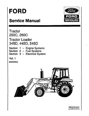 Service Repair Workshop Manual for Ford NH 345D 445D 545D
