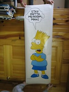 details zu bart simpson poster stay outta mein zimmer the simpsons tur