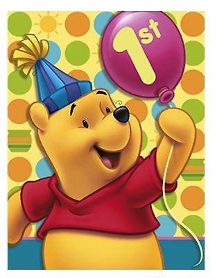 winnie the pooh 1st birthday party invitations fill in disney boys girl baby new ebay