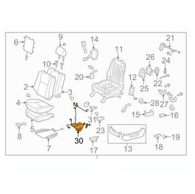 For Toyota Genuine Power Seat Wiring Harness Front Left