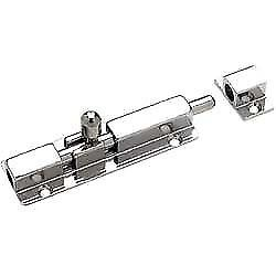 Barrel Bolt Chrome Plated Brass Heavy Duty 3