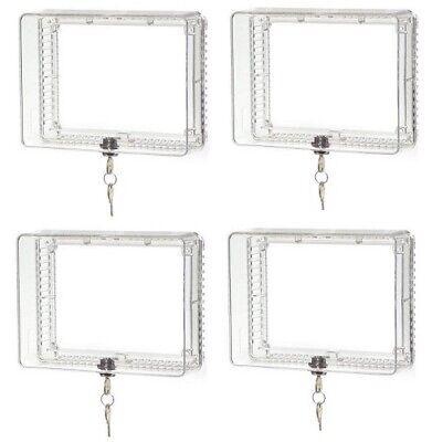(4) Honeywell CG511A1000 Clear Plastic Universal Locking