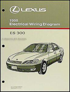 1998 Lexus ES 300 Wiring Diagram Manual 98 ES300