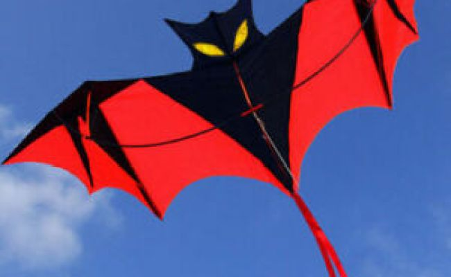 New 1 8m 70in Vampire Bat Kite Red Easy To Fly Great Gift