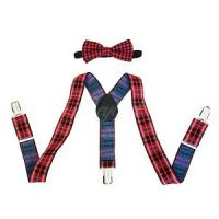 Fancy Red Suspender and Bow Tie Set for Baby Toddler Kids ...