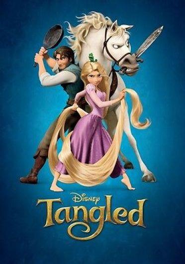 Walt Disney's Tangled movie poster : 12 x 17 inches Rapunzel & Flynn Rider  | eBay