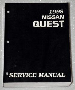 1998 Nissan Quest Factory Service Manual Original Shop