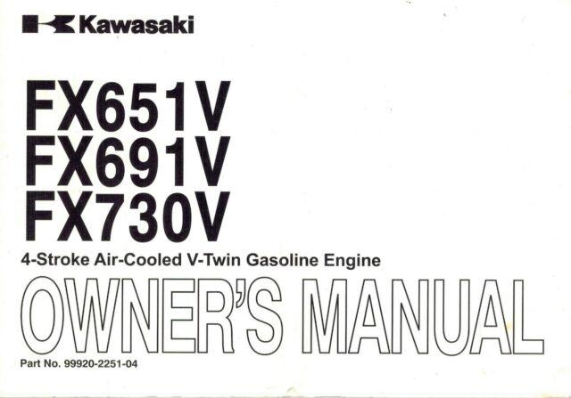 KAWASAKI FS651V FS691V FS730V AIR COOLED V-TWIN ENGINES