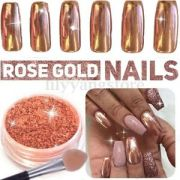 rose gold nail mirror powder