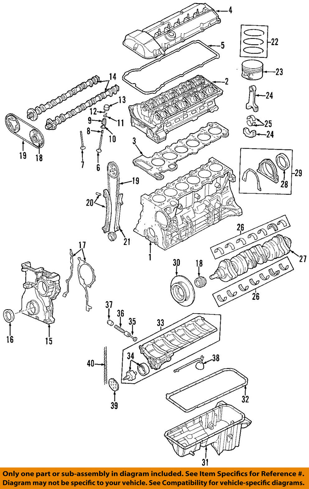medium resolution of 1999 2000 bmw m52tu 2 5l 6 cyl engine housing cylinder block z3 e46 bmw m52tu engine diagram