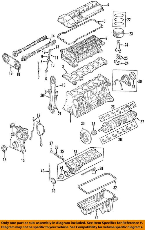 small resolution of 1999 2000 bmw m52tu 2 5l 6 cyl engine housing cylinder block z3 e46 bmw m52tu engine diagram