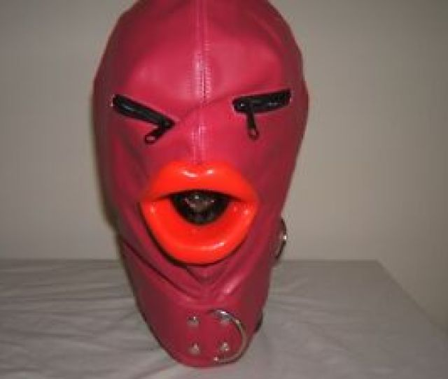 Image Is Loading Pink Leather Gimp Mask With Latex Sissy Lips