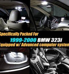 14pc 1999 2000 bmw 323i canbus error free super white car interior led light kit ebay [ 1000 x 1000 Pixel ]