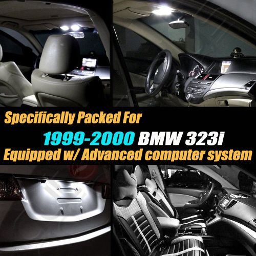 small resolution of 14pc 1999 2000 bmw 323i canbus error free super white car interior led light kit ebay