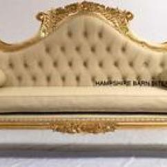 Wedding Sofa Cosmo Eco Leather Bed Double Ended Chaise Ornate French Gold Leaf W Image Is Loading