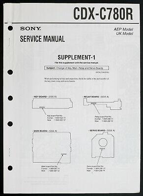 SONY CDX-C780R Original FM/MW/LW CD-Player Service-Manual