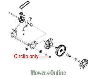 2 x Genuine AL-KO Circlip Circlips 700489 ALKO Lawnmower