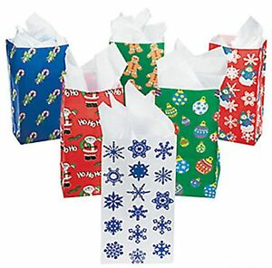 144 Holiday Paper Gift Bags Assortment Christmas party