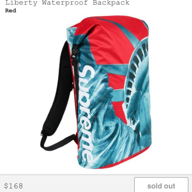 Supreme FW19 x The North Face Statue Of Liberty Waterproof Backpack | eBay