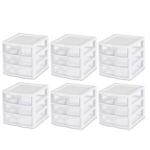 3 Drawer Small Desktop Organizer Home Office Bedroom Plastic Desk Storage 6 PC  eBay