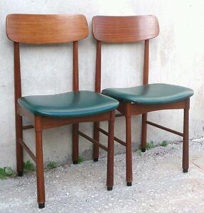 Set di 3 sedie anni 60 vintage design modernariato. 2 Sedie Anni 60 In Teak Stile 101 Di Gianfranco Frattini Per Cassina Ebay
