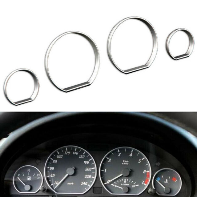 Chrome Gauge Dash Dial Rings Bezel Trim Speedometer Frame
