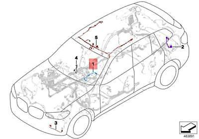 Genuine BMW X3 M X4 G01 G02 G08 Wiring Harness Wireless
