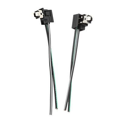 2Pcs Headlight Bulb Socket Wiring Harness Connector
