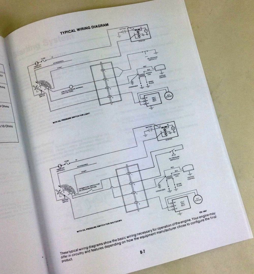 medium resolution of john deere 318 420 316 lawn garden tractor engine service manual onan repair ebay