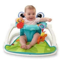 Portable Folding Floor Chairs Wicker Round Chair Fisher Price Frog Sit Me Up Baby Seat Travel Details About Friendly Toy