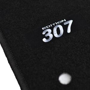 details sur 4 tapis sol peugeot 307 sw oxygo feline rwc moquette logo blanc sur mesure