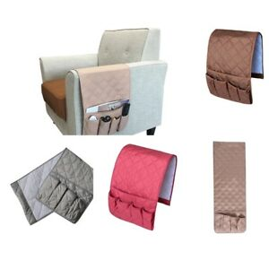 remote holder for chair oversized upholstered armrest organizer 5 pocket caddy couch sofa image is loading