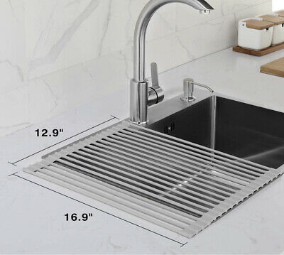 jzbrain roll up dish drying rack 16 9 x 12 9 over the sink ebay