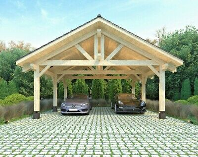 20 X22 474sq Ft Heavy Timber Carport For Two Vehicles Cars