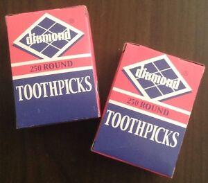 Diamond Round Toothpicks