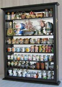NEW Black Wall Cabinet Display Case Knick Knacks Curio ...