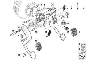 Genuine BMW E60 E60N E61 E61N E63 Clutch Pedal Pin 14x78mm